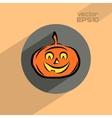Halloween pumpkin flat icon vector image