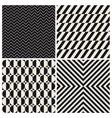 pattern background set retro vintage vector image