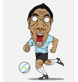 Soccer player argentina vector image