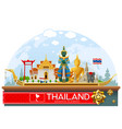 thailand thailand landmark and art background vector image