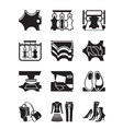 Production of leather clothes and shoes vector image