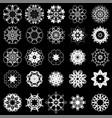 set of different tribal rosette vector image