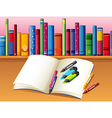Study book stationery vector image