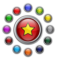 Colour Glossy Buttons vector image