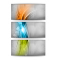 Three color cards vector image vector image