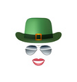 Hat Glasses and lips isolated on white background vector image