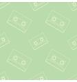Retro audio casettes seamless pattern vector image