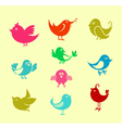 cartoon doodle birds vector image vector image