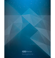 Abstract dark blue background diamond style in vector image
