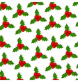 Background of Christmas Holly vector image
