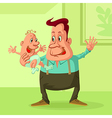 father with baby vector image