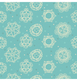 floral pattern with little hearts vector image