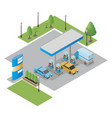gas station isometric vector image