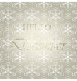 Hello December background vector image