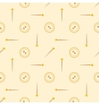 seamless pattern with sewing buttons and needles vector image