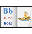 A picture of a boat in a book vector image vector image