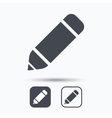 Edit icon Pencil for drawing sign vector image