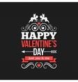 Valentines Day Border Vintage Design Background vector image
