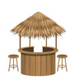 beach bar thatch vintage lounge cafe isolated vector image