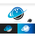 Swoosh Bowling Ball Logo Icon vector image vector image