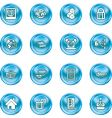 internet and computing media icons vector image