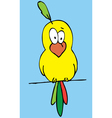 funny bird cartoon vector image