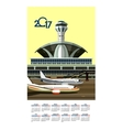 2017 Calendar Airport vector image