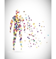 Abstract male body vector image
