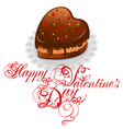 background to valentines day with chocolate cake i vector image