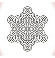Black mandala circle vector image