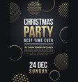 christmas party flyer or poster winter vector image