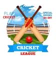 Cricket Stadium vector image