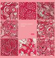 floral seamless vintage pattern set vector image