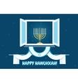 Happy Hanukkah Postcard Design vector image
