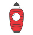 japanese lamp isolated icon vector image