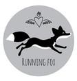 running red fox vector image