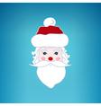 Santa Claus Face Merry Christmas vector image