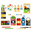 Studio drawing tools to the creative process flat vector image