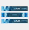 web header set of horizontal abstract banners vector image