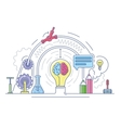 Ideas laboratory abstract vector image vector image