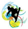 Wake boarder in action vector image vector image