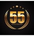 Template Logo 55 Years Anniversary vector image