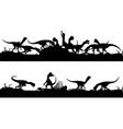 Feeding dinosaurs vector image
