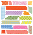 set of colorful tape slices vector image