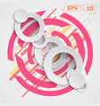 circle background vector image