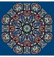 Circle lace ornament round ornamental pattern vector image