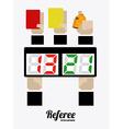 referee desing vector image