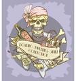 Roaring Twenties Skull label vector image