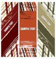 grunge stripes banners vector image vector image