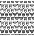 black shopping carts seamless pattern vector image